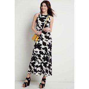 Isaac Mizrahi   Floral Cris Cross Back Maxi Dress